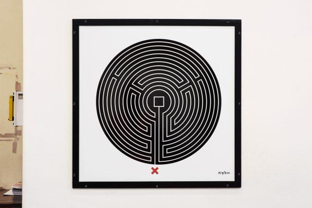 Labyrinth at Putney Bridge station