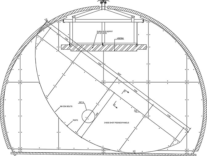 Technical drawing of Full Circle - McGrath Group Belfast