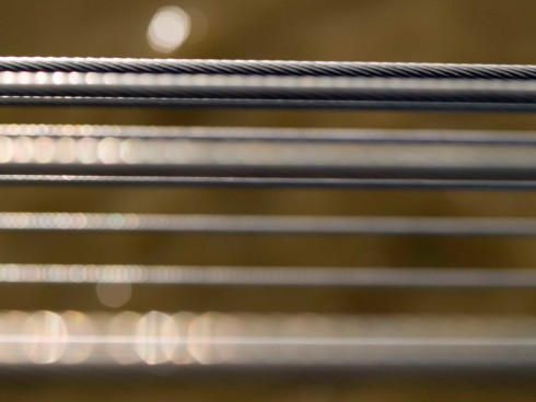 Millennium Bridge and cables