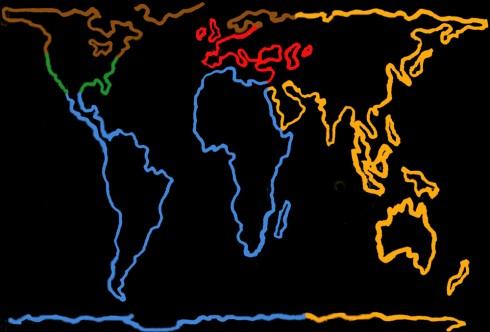 Global Underground Map, Yinka Shonibare, Tube Map cover, 2006