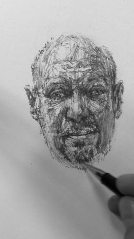 Dryden Goodwin, Linear, 2010. Pencil on paper (detail)