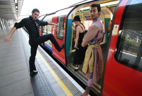 Dancers on the Tube