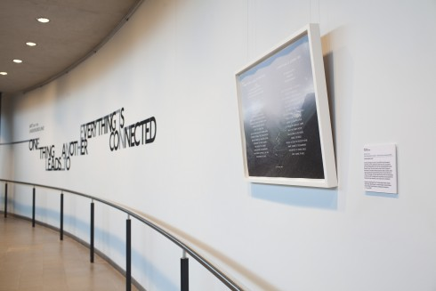 Richard Long, One Thing Leads to Another - Everything is Connected, 2009, framed print, exhibited at City Hall, 2010. Photograph: Benedict Johnson