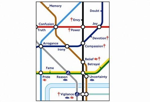 Untitled (Tube Map), Barbara Kruger,