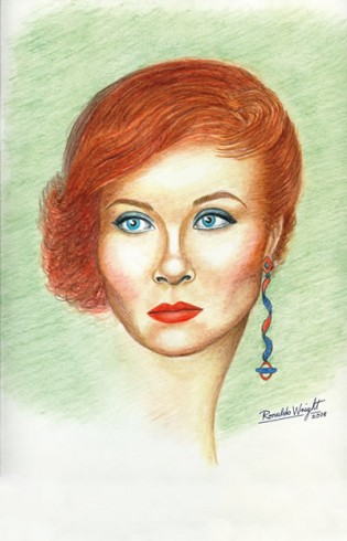 Georgina Starr - Portrait of Georgina with a Roundel Earring