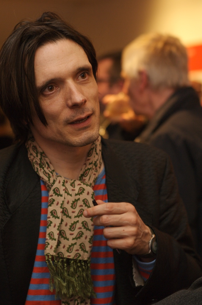 Jeremy Deller at launch of What is the City but the People? Photograph: Daisy Hutchison