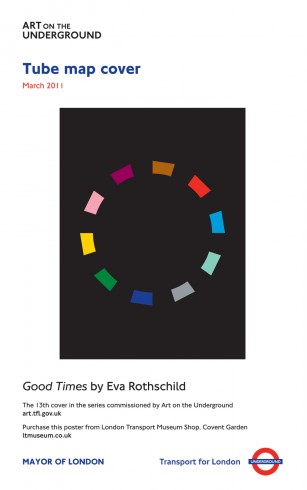 Good Times, Eva Rothschild. Tube Map cover, 2011