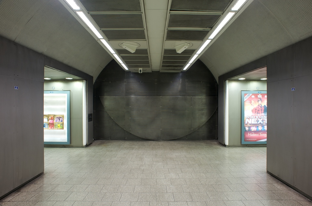 Full Circle by Knut Henrik Henriksen, 2011. Piccadilly line concourse. Photograph by Daisy Hutchison
