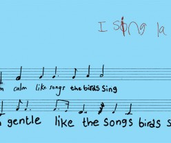 Illustration of musical score