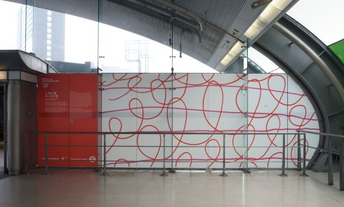 A LOCK IS A GATE © Ruth Ewan 2011. Stratford station. Photograph: Daisy Hutchison