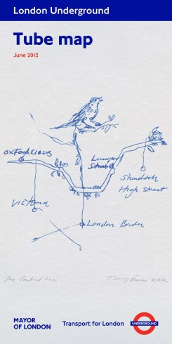 The Central Line, Tracey Emin, Tube Map cover, 2012