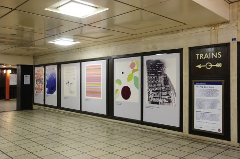 Olympic and Paralympic Posters for London 2012  Piccadilly Circus Underground station Photograph: Thierry Bal