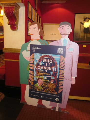 Cut-out from Bob and Roberta Smith and Tim Newton, Who is Community? 2012. At venues across Stratford.
