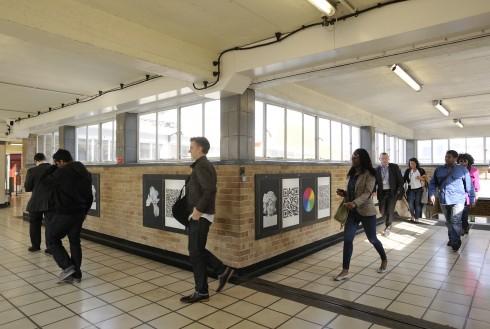 Anna Barham, White City, 2012. White City Underground station. Photograph:Thierry Bal