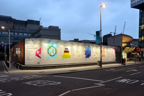 Olympic and Paralympic Posters for London 2012, Southwark Underground station. Photograph: Thierry Bal