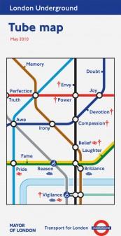 Barbara Kruger tube map cover