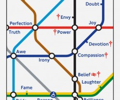Barbara Kruger tube map cover