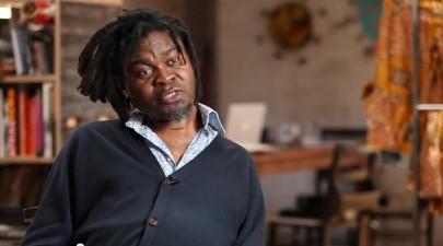Film still of Yinka Shonibare