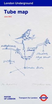Tracey Emin tube map cover