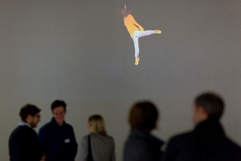 ICA at Canary Wharf Screen. Photograph: Benedict Johnson