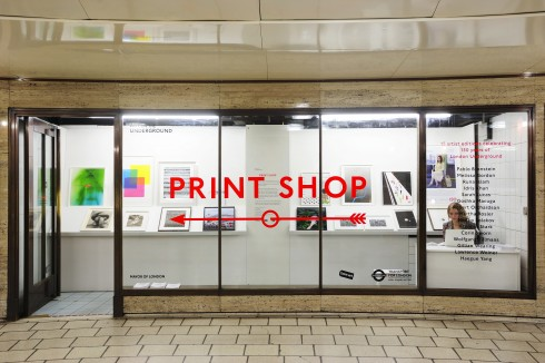 Print Shop, Piccadilly Circus station, 2014  Photograph: Thierry Bal