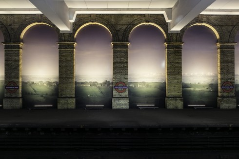 An English Landscape (American Surveillance Base near Harrogate, Yorkshire), Trevor Paglen, Gloucester Road station, 2014  Photograph: Ollie Hemmick