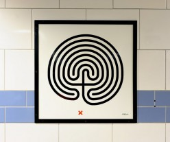 Labyrinth at Green Park station