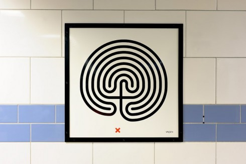 Labyrinth, Mark Wallinger, Green Park station, 2013 Photographer: Thierry Bal
