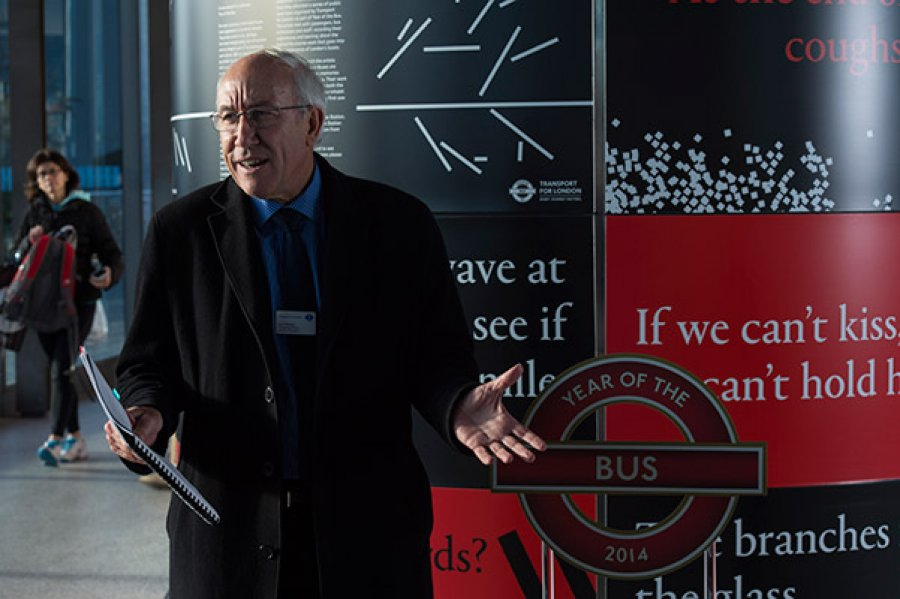 Leon Daniels, 100 Launch, Greenwich bus station, January 2015 Photograph: Alastair Fyfe