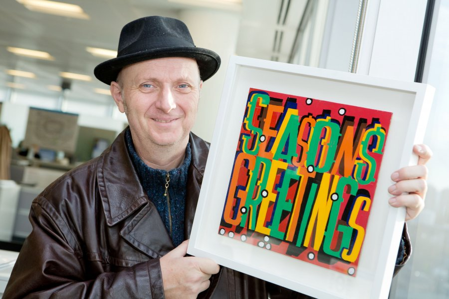 Season's Greetings, Bob & Roberta Smith, 2014 Photograph: Transport for London