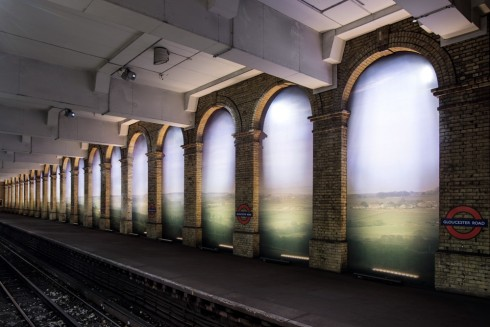 An English Landscape, Trevor Paglen, Gloucester Road station, 2014 Photo: Thierry Bal
