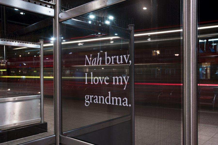 100, Jay Bernard and Yemisi Blake, Install at Walthamstow Bus Station, 2015