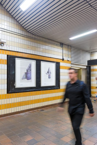 Tracing the Line, Charing Cross station, 2014  Photograph: Benedict Johnson