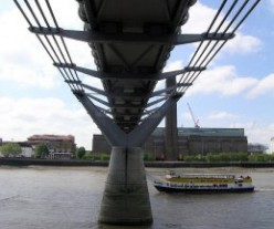 Underside of Millennium Bridge