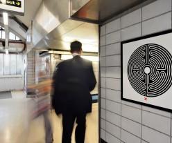 Labyrinth at Goldhawk Road station