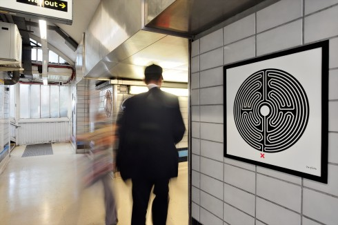 Labyrinth, Mark Wallinger, Goldhawk Road station, 2013 Photographer: Thierry Bal