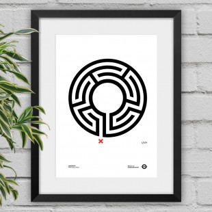 Labyrinth – black framed poster print