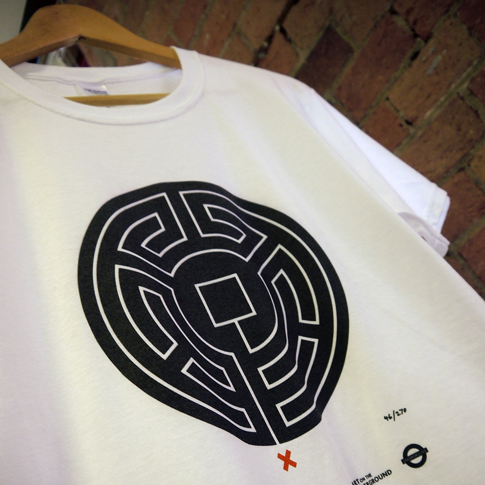 detail of Labyrinth t-shirt