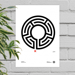 Labyrinth – unframed poster print