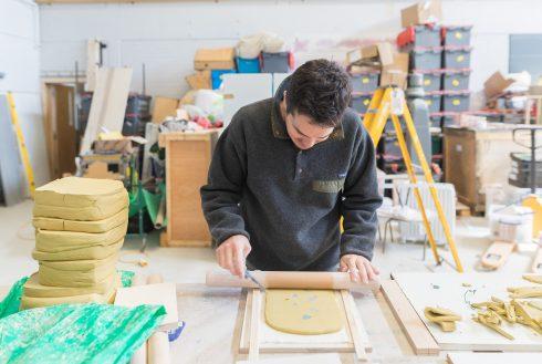 Tiles in Production, Sugarhouse Studios, Assemble, 2017. Photo; Benedict Johnson, 2017