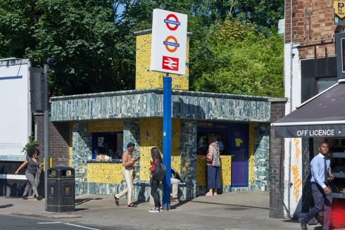 Assemble & Matthew Raw, Clay Station, Seven Sisters station, 2017. Photo; G.G. Archard
