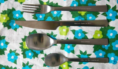Ania Bas, Literary Cutlery, commissioned by b-side Festival 2014, Portland 2014