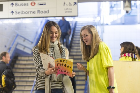 Object Exchange, Young People's Project led by Ania Bas, Walthamstow Central station, 2016 Photo: Alastair Fyfe