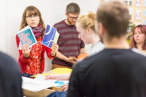 Object Exchange, Ania Bas, Hato Press, Bethnal Green. Part of Underline Public Programme, 2015. Photo: Benedict Johnson
