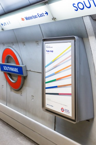Untitled, Tomma Abts, Tube Map cover, 2016 Photo: Benedict Johnson