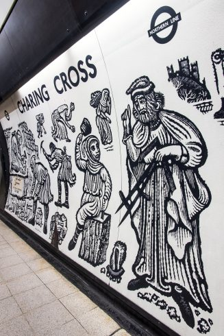 Charing Cross station, Cross for Queen Eleanor, David Gentleman, 1979