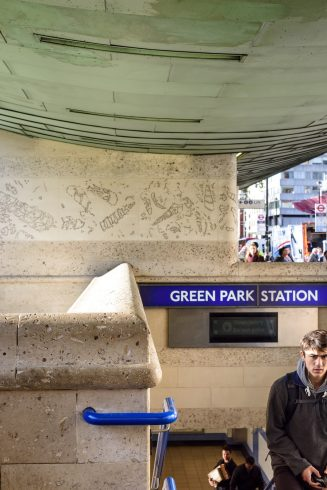 Green Park station, Sea Strata, John Maine, 2011