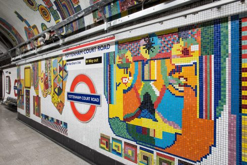 Tottenham Court Road station, Daniel Buren, 2016