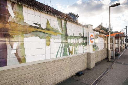 Hampstead Heath Overground station, Evenings' Hill, Clare Woods, 2011