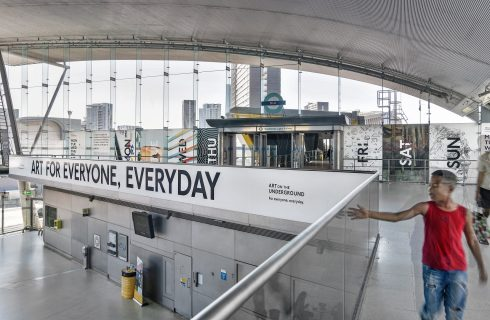 Art for Everyone, Everyday, Stratford station, 2016 Photo: Thierry Bal